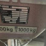 Brugt 1000 kg GIS el kædetalje